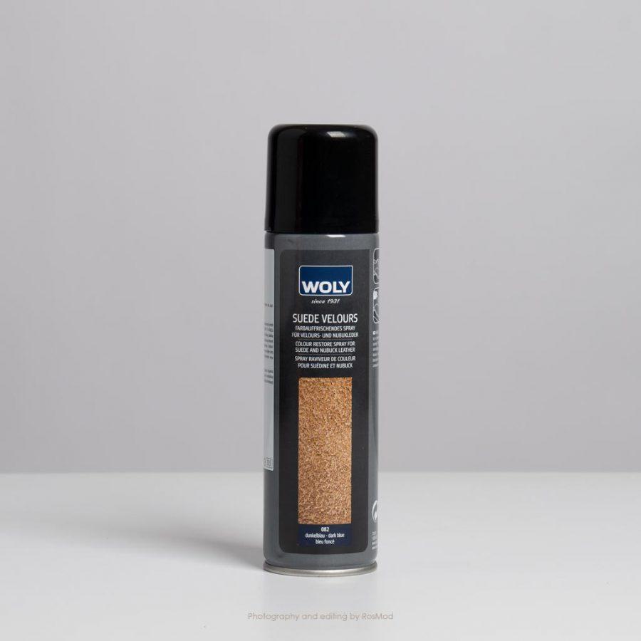 اسپری جیر و نبوک سرمهای وولی – Woly Suede Velours Dark Blue
