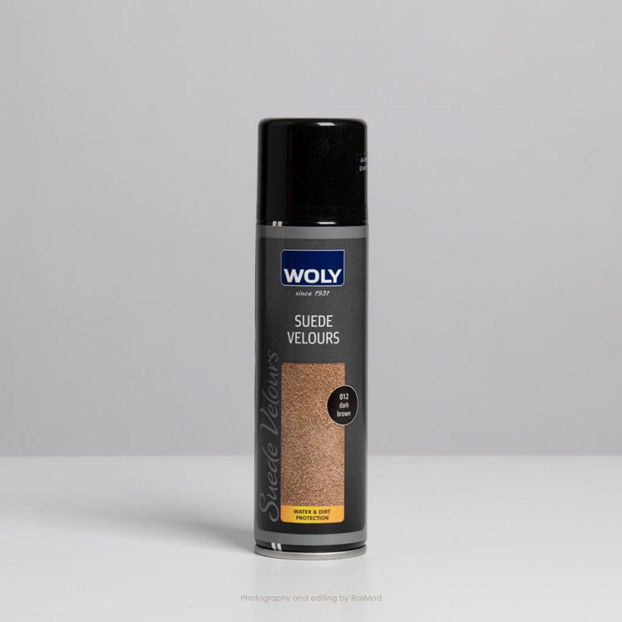 اسپری جیر و نبوک قهوهای وولی – Woly Suede Velours Dark Brown